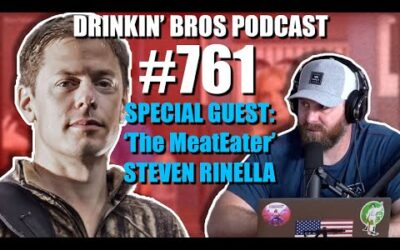 Drinkin' Bros Podcast #761 – Special Guest 'The MeatEater' Steven Rinella